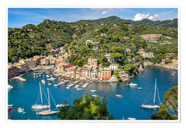 Premium poster Harbor of Portofino in Liguria, Italy