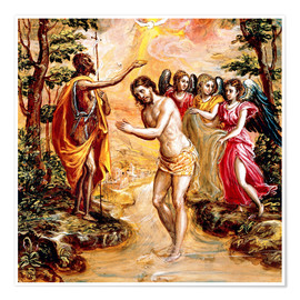 Premium poster Baptism of Christ
