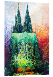Acrylic print  Cologne Cathedral Abstract - Renate Berghaus