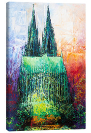 Canvas print  Cologne Cathedral Abstract - Renate Berghaus