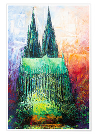 Premium poster Cologne Cathedral Abstract