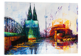 Acrylic glass  Cologne Cathedral Skyline - Renate Berghaus