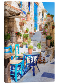 Canvas print  Greek cosiness - Thomas Klinder
