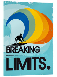 Acrylic print  Surfer, Breaking limits - 2ToastDesign