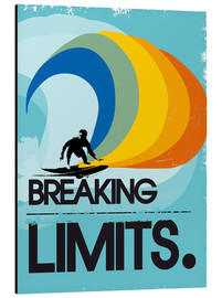 Aluminium print  Surfer, Breaking limits - 2ToastDesign