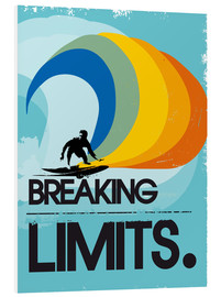 Foam board print  Surfer, Breaking limits - 2ToastDesign