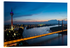 Acrylic print  Dusseldorf Skyline at night - rclassen
