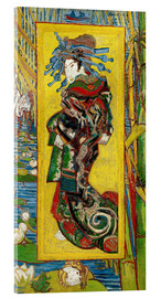 Acrylic glass  Japonaiserie: Courtesan or Oiran - Vincent van Gogh
