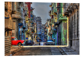 Foam board print  In the streets of Havana - HADYPHOTO