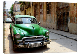 Canvas print  Vintage car in the streets of Havana, Cuba - HADYPHOTO