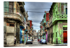 Acrylic print  In the streets of Havana - HADYPHOTO by Hady Khandani