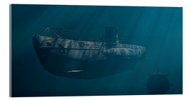Acrylic print  Submarine 1941, Behind Enemy Lines - Peter Weishaupt