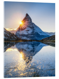 Acrylic print  Riffelsee and Matterhorn in the Swiss Alps - Jan Christopher Becke