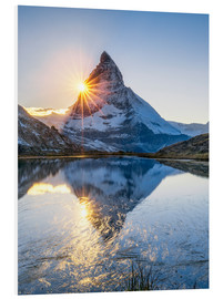 Foam board print  Riffelsee and Matterhorn in the Swiss Alps - Jan Christopher Becke