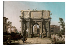 Canvas  Arch of Constantine with the Colosseum - Antonio Canaletto