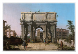 Premium poster  Arch of Constantine with the Colosseum - Antonio Canaletto