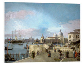 Foam board print  Entrance to the Grand Canal from the Molo - Antonio Canaletto