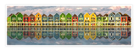 Premium poster  The colorful houses of Houten   Netherlands - Sabine Wagner