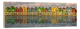 Wood print  The colorful houses of Houten   Netherlands - Sabine Wagner