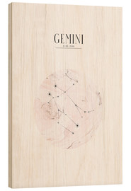 Wood print  GEMINI | TWIN - Stephanie Wünsche