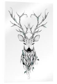 Acrylic glass  Poetic Deer - LouJah
