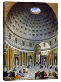Canvas print  Interior of the Pantheon - Giovanni Paolo Pannini