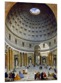 Foam board print  Interior of the Pantheon - Giovanni Paolo Pannini