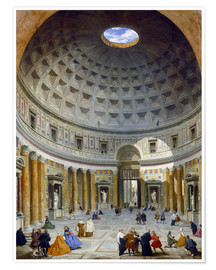 Poster  Interior of the Pantheon - Giovanni Paolo Pannini