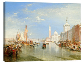 Canvas  Venice: The Dogana and San Giorgio Maggiore - Joseph Mallord William Turner