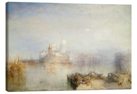 Canvas  The Dogana and Santa Maria della Salute - Joseph Mallord William Turner