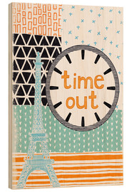 Wood print  Time Out - Sybille Sterk