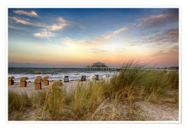 Premium poster  Timmendorfer beach on the Baltic coast - Filtergrafia