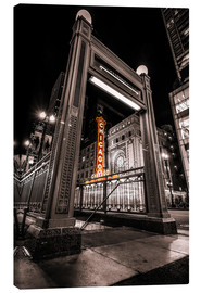 Canvas print  Chicago Theatre , Illinois - Sören Bartosch
