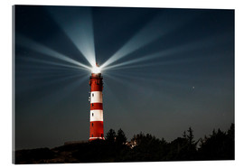 Acrylic print  Lighthouse night on Amrum - Oliver Henze
