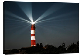 Canvas print  Lighthouse night on Amrum - Oliver Henze
