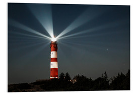 Foam board print  Lighthouse night on Amrum - Oliver Henze
