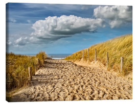 Canvas print  Through the dunes to the beach - Peter Roder