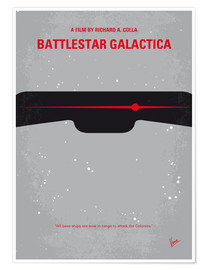 Premium poster My Battlestar Galactica minimal movie poster