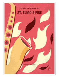Premium poster My St Elmos Fire minimal movie poster