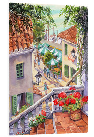 Foam board print  Harbour Steps - Paul Simmons