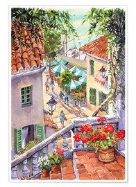 Poster  Harbour Steps - Paul Simmons
