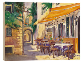 Wood print  Provence Cafe - Paul Simmons