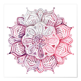 Premium poster Burgundy Blush Watercolor Mandala