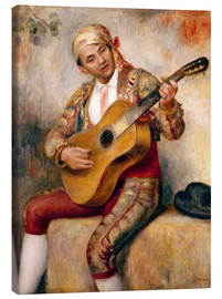 Canvas  The Spanish Guitarist - Pierre-Auguste Renoir