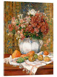 Acrylic glass  Still Life with Flowers and Prickly Pears - Pierre-Auguste Renoir