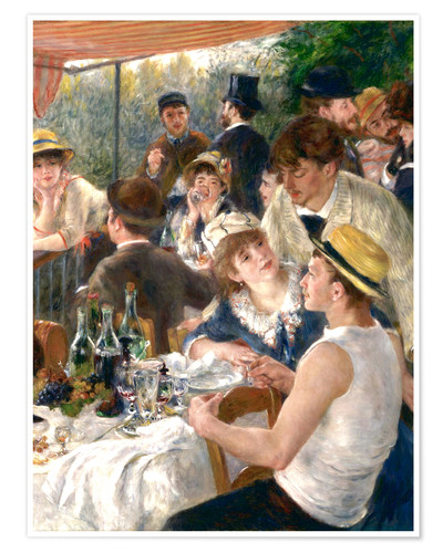Premium poster Luncheon of the Boating (Detail)