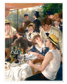 Premium poster  Luncheon of the Boating (Detail) - Pierre-Auguste Renoir