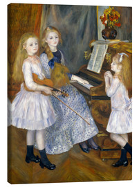 Canvas print  The Daughters of Catulle Mendès - Pierre-Auguste Renoir