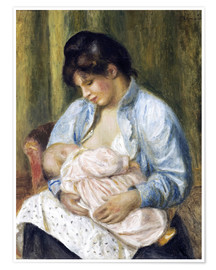 Premium poster A Woman Nursing a Child