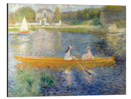 Aluminium print  The Seine at Asnieres - Pierre-Auguste Renoir